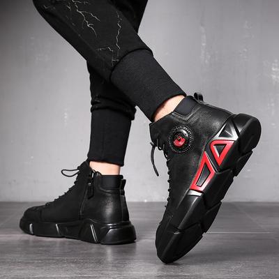 MARS MISTER火星先生新款欧洲站男鞋潮流高帮鞋百搭真皮马丁靴潮