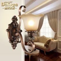 欧式水晶壁灯创意床头蜡烛灯简约现代客厅电视背景墙过道走廊壁灯