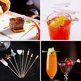 Creative stainless steel cocktail pin sign fruit drink wine fruit sign olive bartender bar wine pin decoration snack