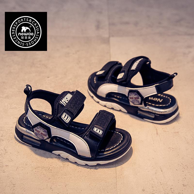 儿童真皮凉鞋男童鞋子中大童韩版男孩防滑软底沙滩鞋2019夏季新款