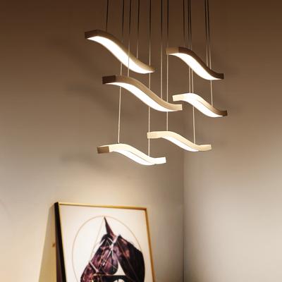 led后现代餐吊灯 创意造型简约吧台灯时尚餐厅灯温馨浪漫卧室灯在哪买