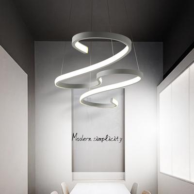后现代餐厅吊灯创意个性简约LED卧室灯具北欧工业吧台饭厅餐吊灯