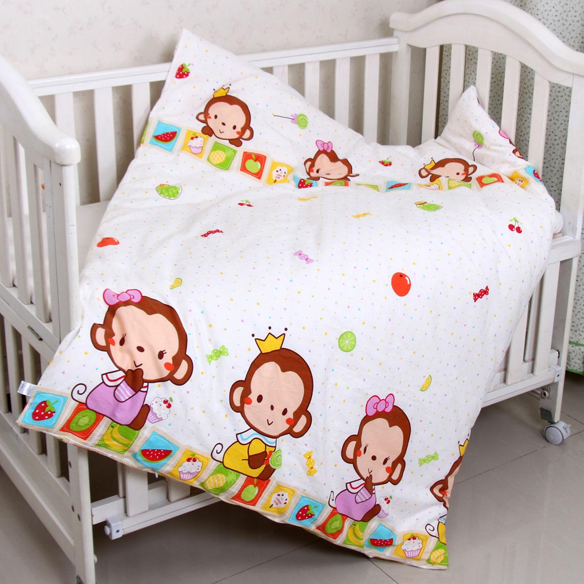 优伴猴宝宝婴儿被罩全棉卡通婴儿床品可爱宝宝拉链被套纯棉被外套