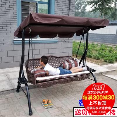 尚伦户外秋千吊椅室外成人吊篮庭院阳台藤椅双人摇篮室内铁艺摇椅