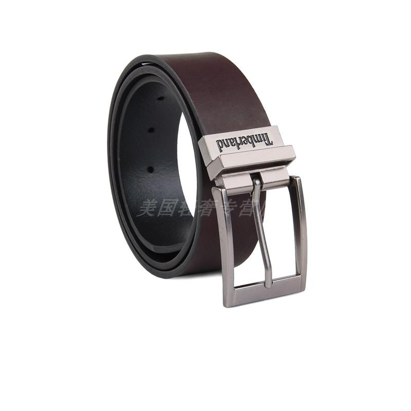 美国代购TIMBERLAND添柏岚男士时尚百搭牛皮针扣两面可用皮带腰带