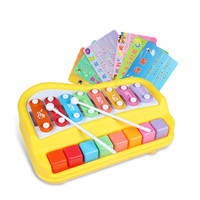 Polaroid baby children music knock on the piano eight-tone small xylophone piano baby puzzle musical toys 1-2-3 years old