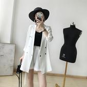 套装 雪纺薄西装 白西装 新款 2019春装 两件套 气质 短裤 未央定制