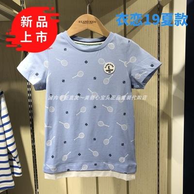 现货国内专柜正品代购衣恋男童19夏款EKRA92301K短袖T恤RA92301K