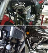 摩托车改装油冷通用外置机油散热器/CB/CG/双缸/CBT/YBR/CBF改装