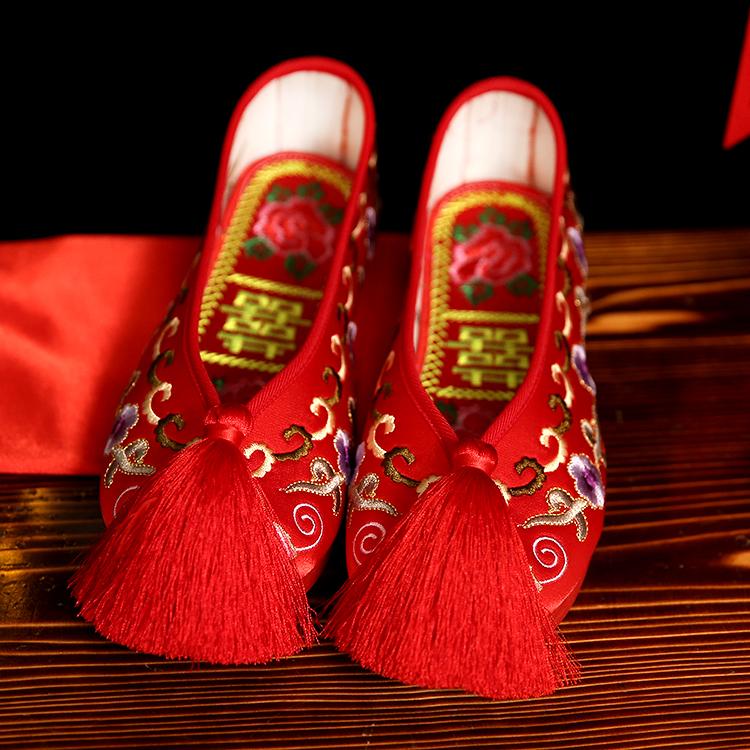 红布鞋 婚鞋