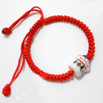 高考幸运手链金榜题名 旺学业助考运 纯手工编制金刚结红绳手链