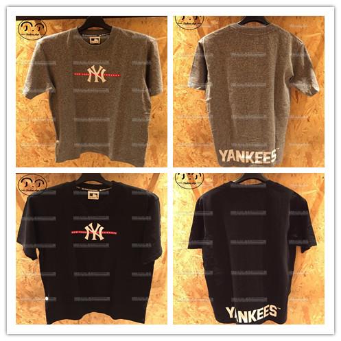 丁丁香港潮店MLB/YANKEES 男装  字母 短袖T恤18夏20123