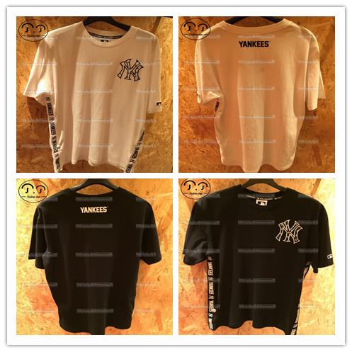 丁丁香港潮店MLB/YANKEES 男装 侧边字母 短袖T恤18夏20125