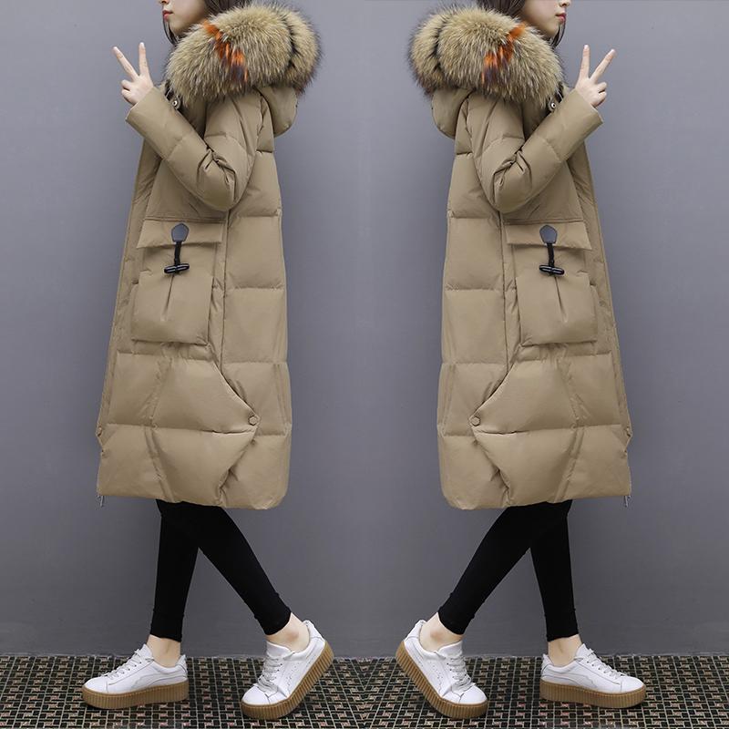 羽绒服女款超大毛领外套