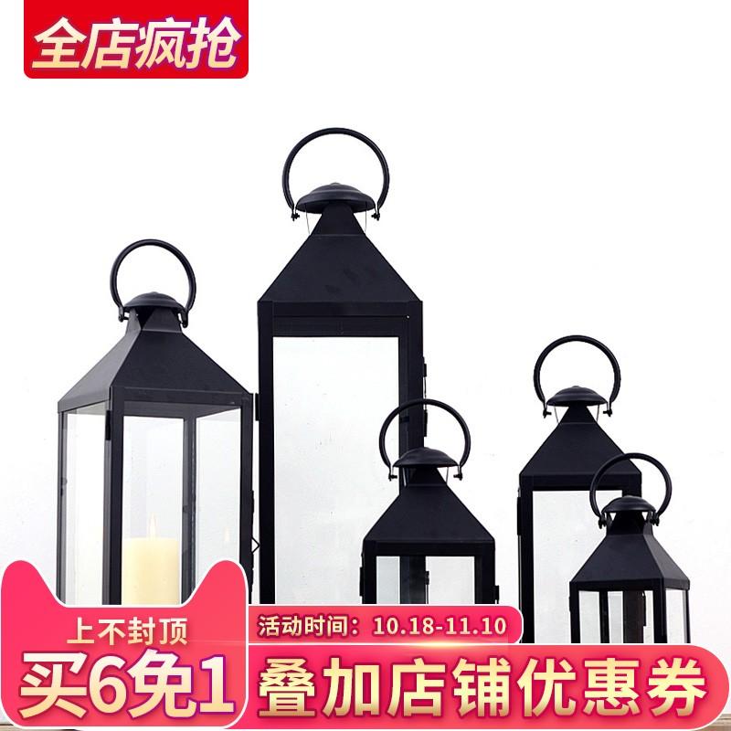 铁艺玻璃风灯