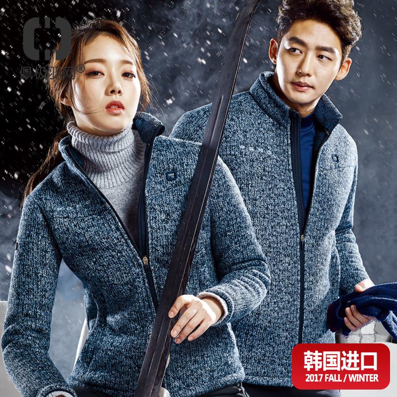 韩国佩极正品运动上衣长袖外套 男女情侣厚毛衫保暖时尚羽毛球服
