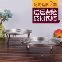 不锈钢蒸架家用蒸屉隔水蒸架篦子加高脚蒸笼盘高压锅圆形蒸盘器锅