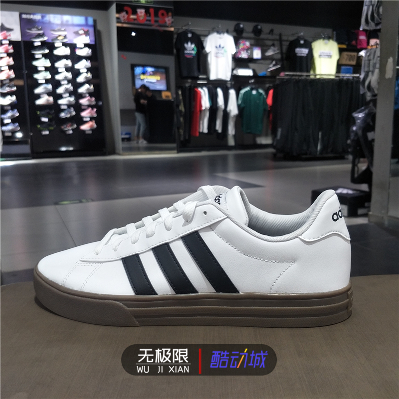 Adidas阿迪达斯男鞋2019秋季新款运动鞋低帮经典小白鞋板鞋F34469