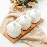 骨瓷陶瓷盐罐