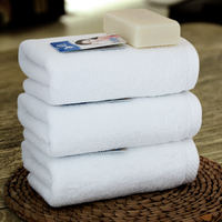 Jie Yu pure white cotton towel towel square thickened three-piece suit Hotel cotton towel soft and absorbent
