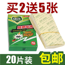 Buy 2 and send 5 pieces of green cockroach sticker to catch cockroaches. Cockroach sticker paper 20 pieces of cockroach killing medicine for household use