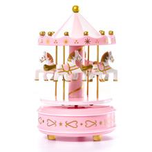 旋转木马音乐盒蛋糕装饰摆件diy创意生日蛋糕派对礼物婚礼装扮