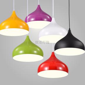 现代简约LED创意餐厅吊灯个性单头彩色艺术咖啡馆餐饮餐桌饭店灯