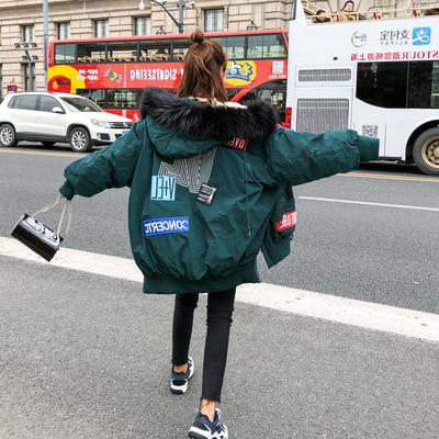 反季棉服女中长款2018新款加厚韩版宽松ins羽绒棉袄棉衣冬季外套