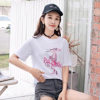 2019夏装韩版女士新款短袖T恤女学生宽松打底衫衣服女装