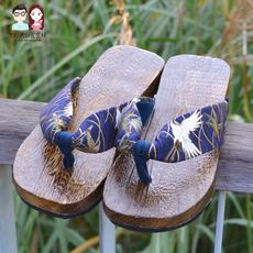 91653cf8f296 Mudu COS Japanese style flat with Chinese style high heel platform wooden  slippers slope with non