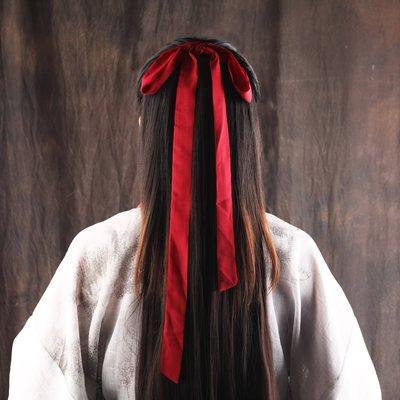 素嫦娥新款小孩发绳头发布料流苏魔道祖师魏无羡红发带古装汉服头