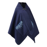 哲品妙格系列Knitting pattern embroidery craft female blue versatile warm multi-purpose shawl with pocket