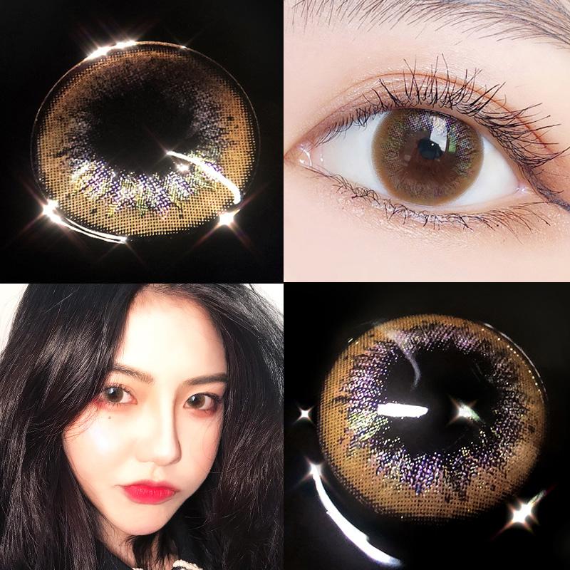 可啦啦隐形眼镜美瞳月抛13.8mm自然大小直径女学生混血网红KLL