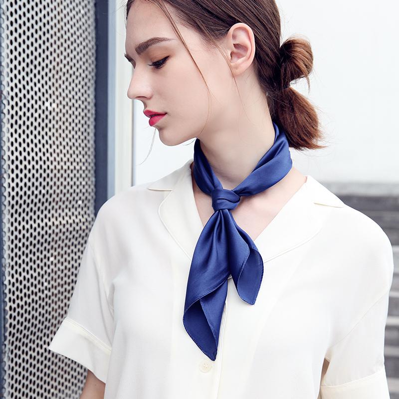 素色真丝丝巾