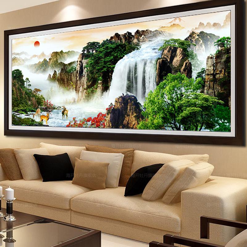 山水画十字绣客厅风景系列