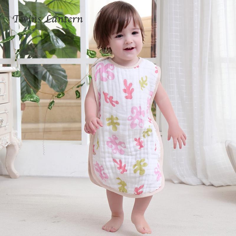 双灯儿童睡袋宝宝防踢被纯棉纱布睡袋夏季薄款空调房婴儿空调被