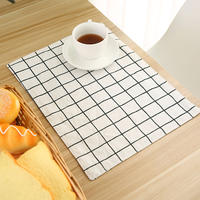 Nordic ins Japanese cotton linen table mat napkin plate pad Western mat children's student insulation pad