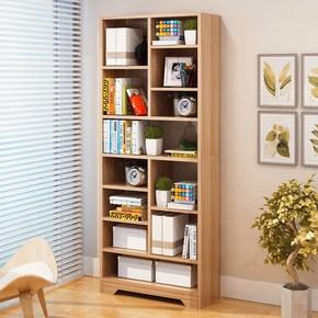 桌书架摆件多功能免墙角架电脑挡板艺术松木高中生放书香实木移动