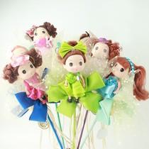 diy手工创意可爱玩偶批发迷你玩偶少女玩偶结婚玩偶粉色公主玩偶