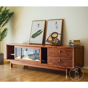 新中式红木电视柜花梨木客厅组合现代简约实木家具刺猬紫檀地柜
