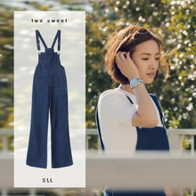 Old boy Lin Yichen Lin Xiaoou jeans with the same type of belt pants for girls in spring and summer show a slim, high waist and broad legs bell pants