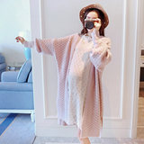 Pregnant women's sweater in spring and autumn fashion long sleeve, middle and long side open shirt, loose Korean version jacket for pregnant women's autumn dress