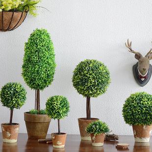 zakka田园美式乡村家居装饰品仿真植物盆栽花桌面法式小摆件盆景