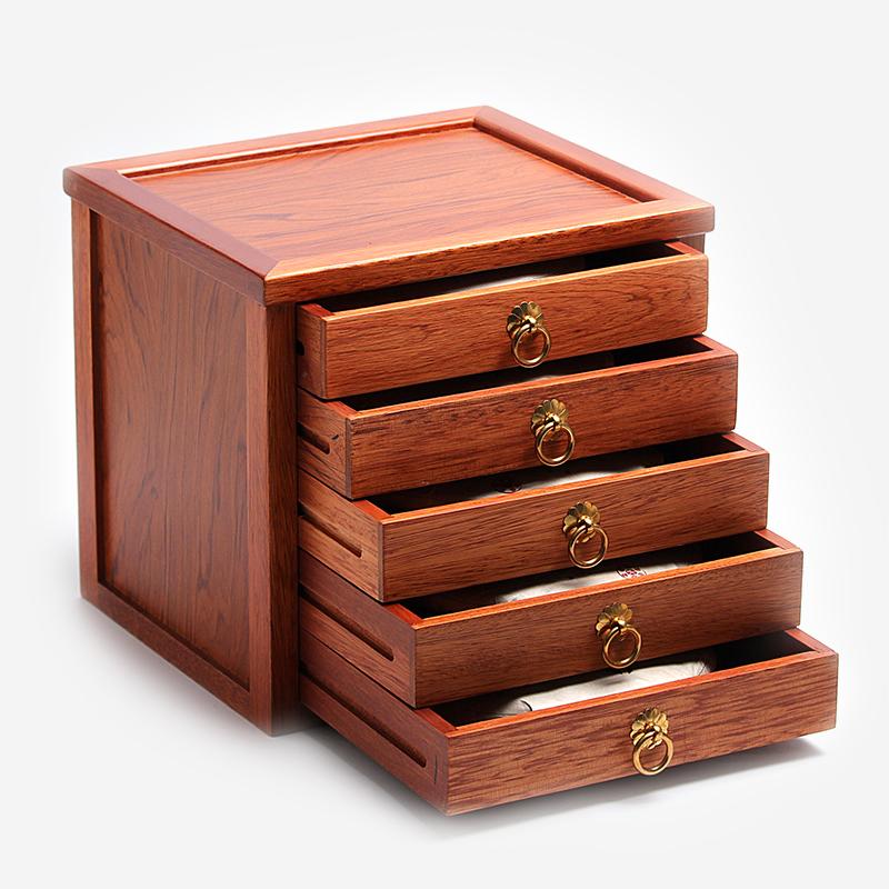 花梨木茶葉盒