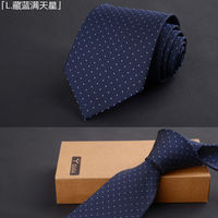 Men's Business Dress Tie Wedding Groom Tie 8cm Black Red Blue Tie