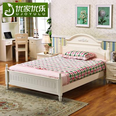 韩式儿童床女孩公主床单人床一米二高箱储物1.5田园板式床青少年