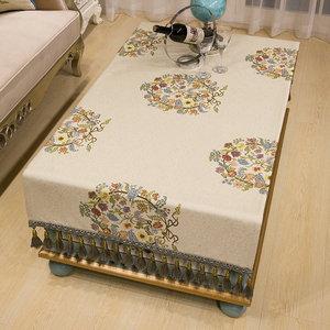 布一堂现代中式茶几桌布客厅布艺1062简约餐桌布台布长方形盖布