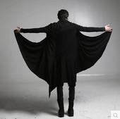 宽松外套斗篷披风 刺客信条大衣暗黑系风衣长款 开衫 夏季非主流男装