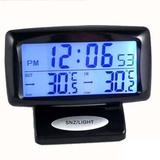 多功能汽车时钟车内外双温度计车用车载数字电子显示表夜光电子钟