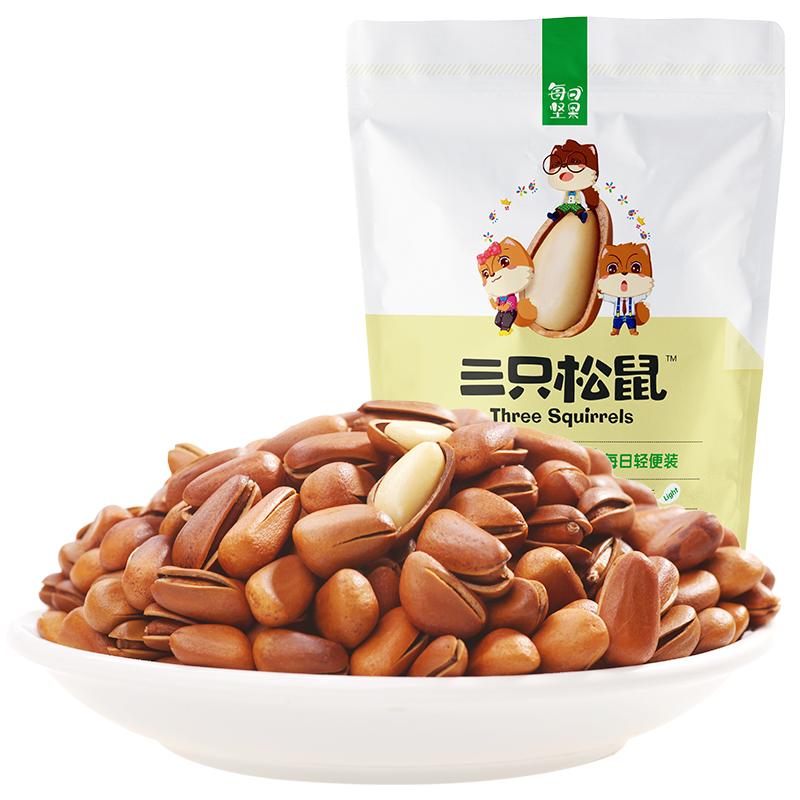 三只松鼠 开口松子100g零食每日坚果特产炒货东北红松子